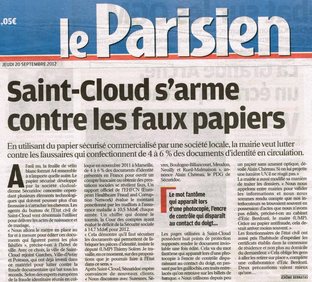 Parisien papier st-cloud